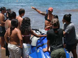 Jr Lifeguard Program class on the beach