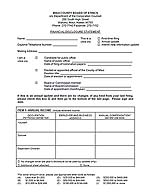 Financial Disclosure Form link