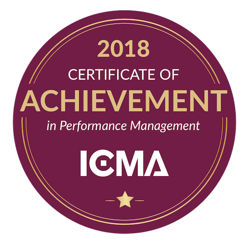 ICMA Center for Performance Management 2018 Achievement Award Badge
