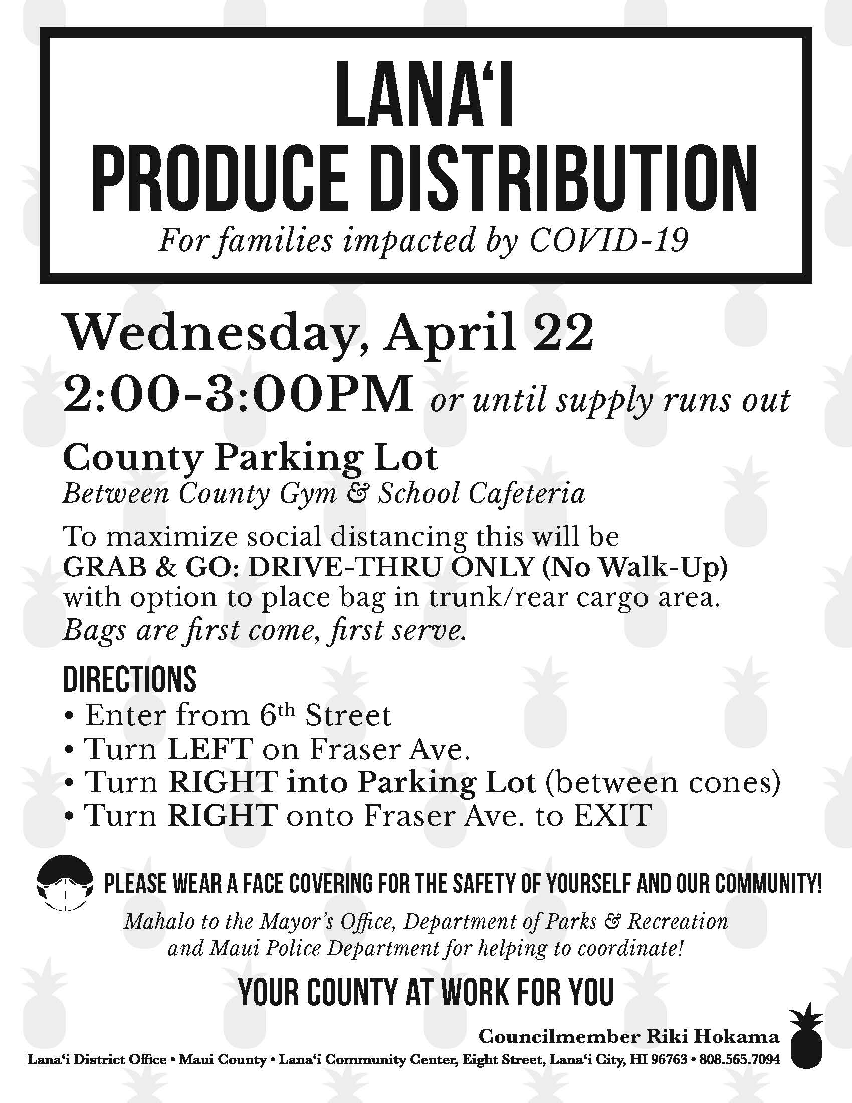 Lanai Fresh Produce Distribution 4.21.20
