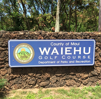 Waiehu Golf Course Sign
