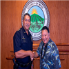 Mayor Alan Arakawa Congratulates New Maui Police Department Chief Tivoli Faaumu