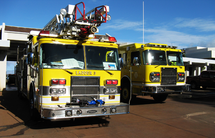 Fire Engines at Lahaina Fire Station