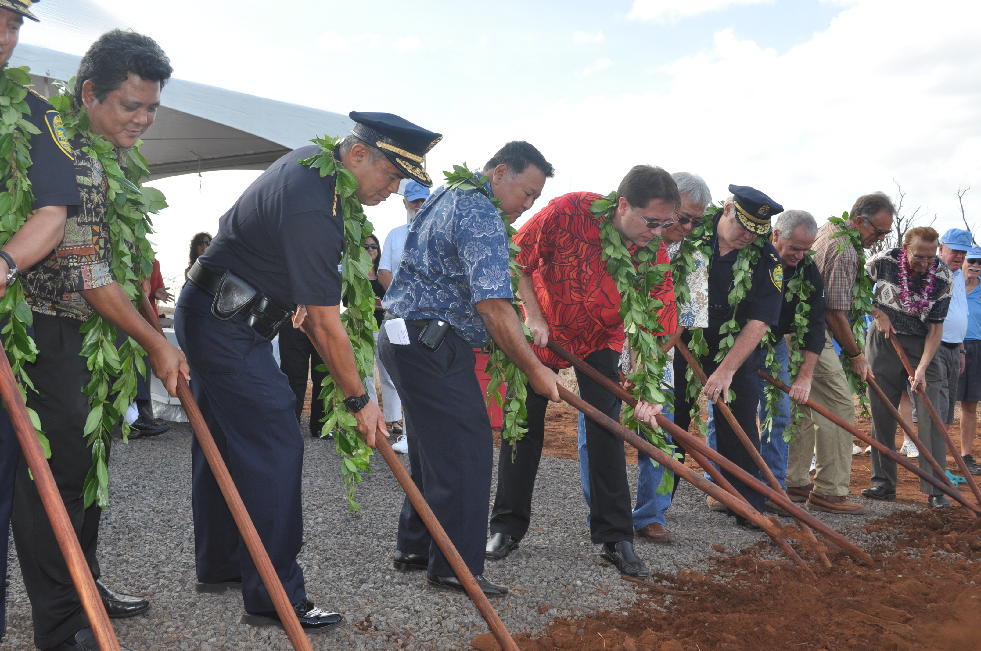 County Officials break ground