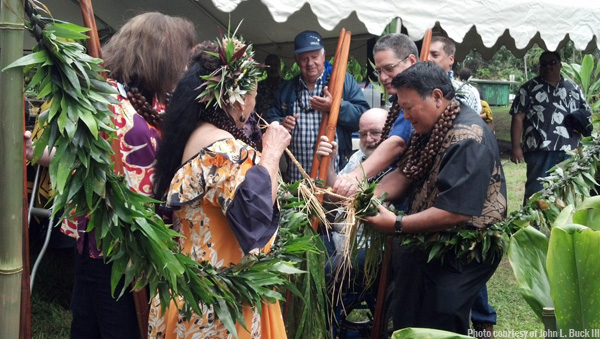 Groundbreaking of Nahiku Comm Center
