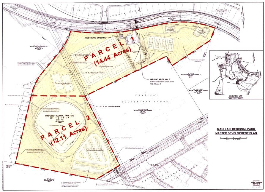 Maui Lani Park Plan