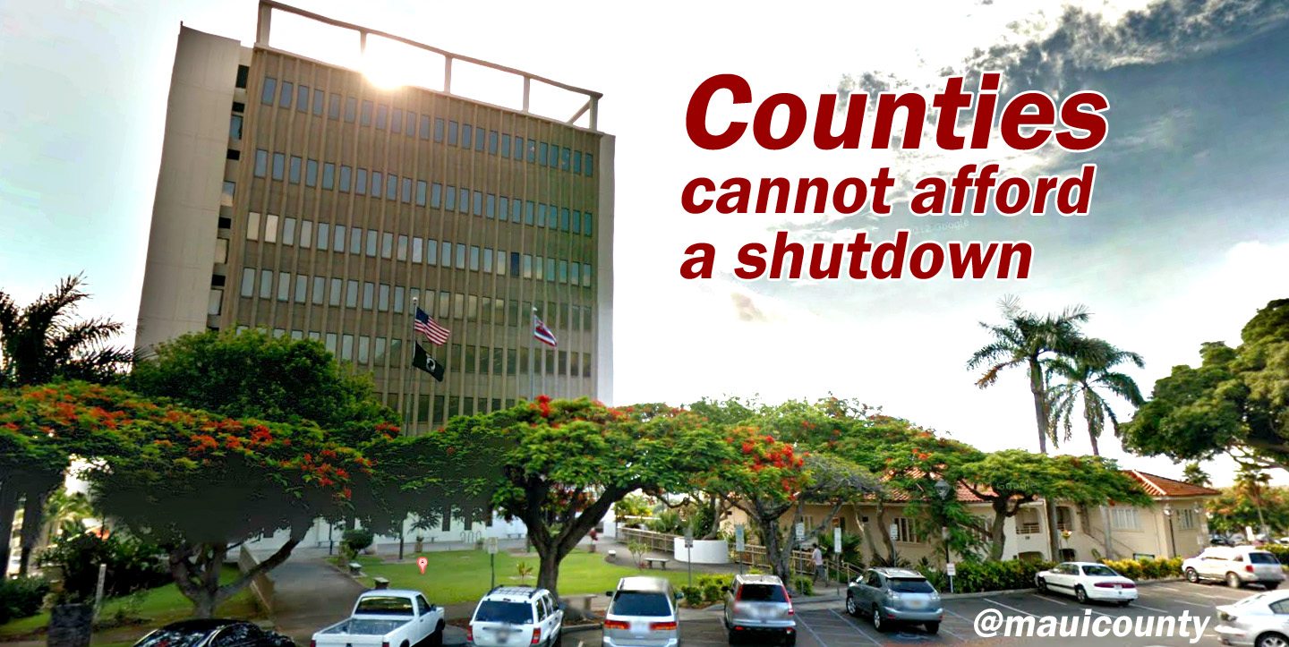 Counties cannot afford a shutdown