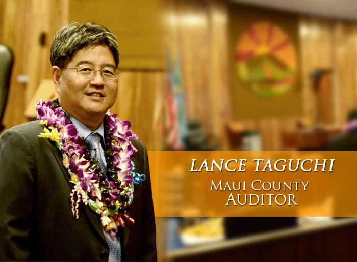 Lance Taguchi, Maui County Auditor