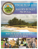 2016 Mayor's Budget Proposal