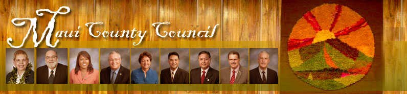 Maui County Council header with members photos