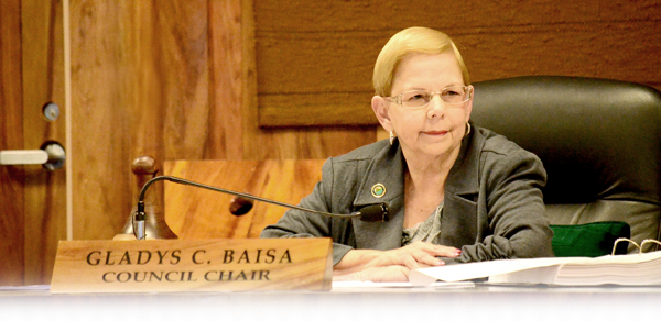 Council Chair Baisa