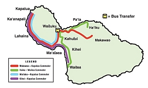 Maui Bus Commuter Service Map
